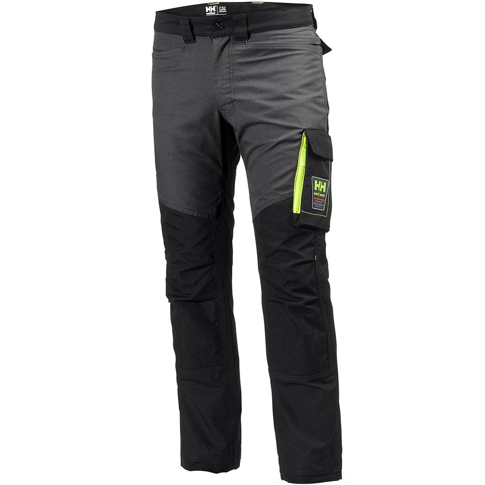 Helly Hansen 77400_999-C48 Aker Work Pants, C48, Black/Charcoal