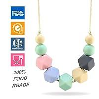 KEFU Collar Mordedor de Lactancia para Bebé Mordedor sin BPA Silicona Antibiótico Cómodo use collar, Hermosa Moda