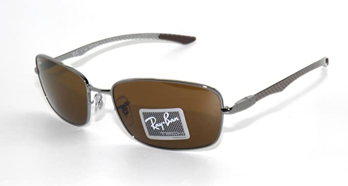 bd49bc8063d Image Unavailable. Image not available for. Colour  Ray Ban Tech RB 8308  Gunmetal Carbon Fiber Frame Brown Lens Sunglasses