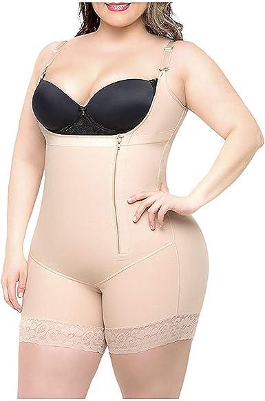 YUTING Mujer Body Reductor Busto Abierto Corsé sin Costuras Faja ...