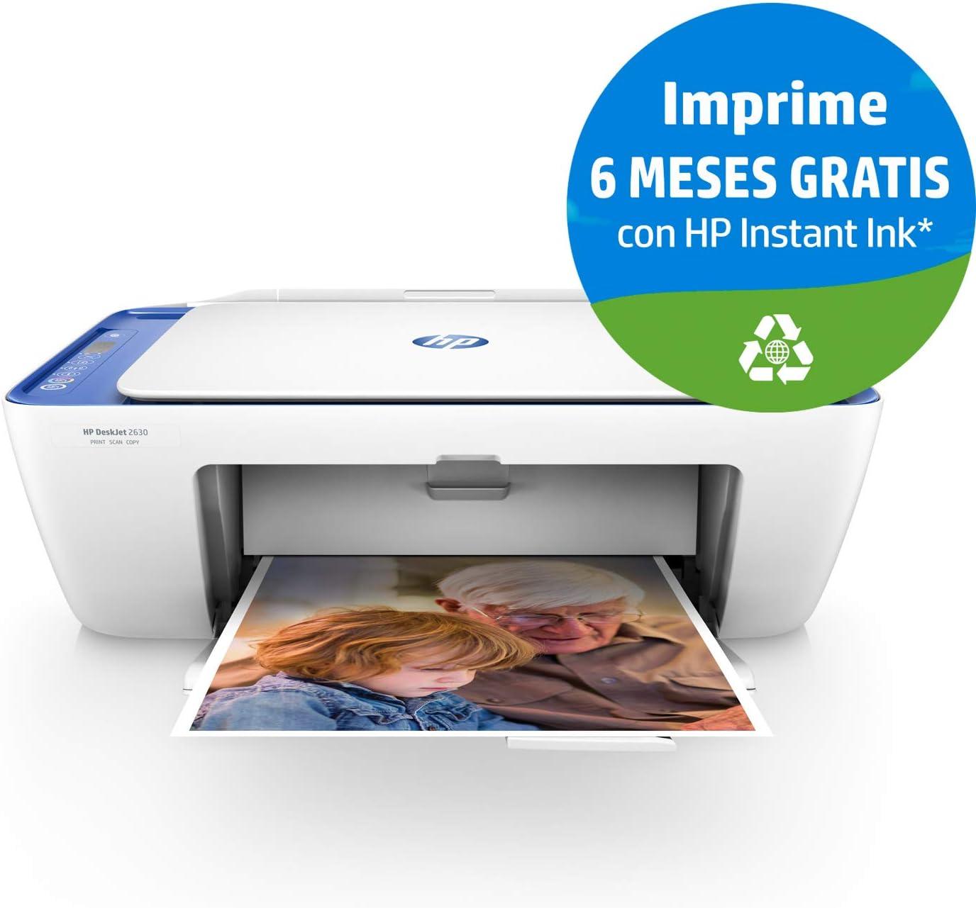 Hp Deskjet 2630 V1N03B#629 Impresora Multifunción de Tinta ...