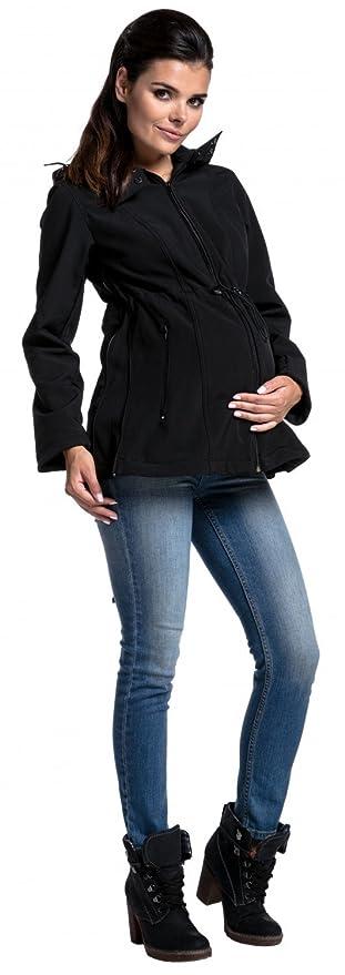079178b25755b Zeta Ville - Womens Softshell Jacket Maternity Removable Panel Babywearing-  447c at Amazon Women's Clothing store: