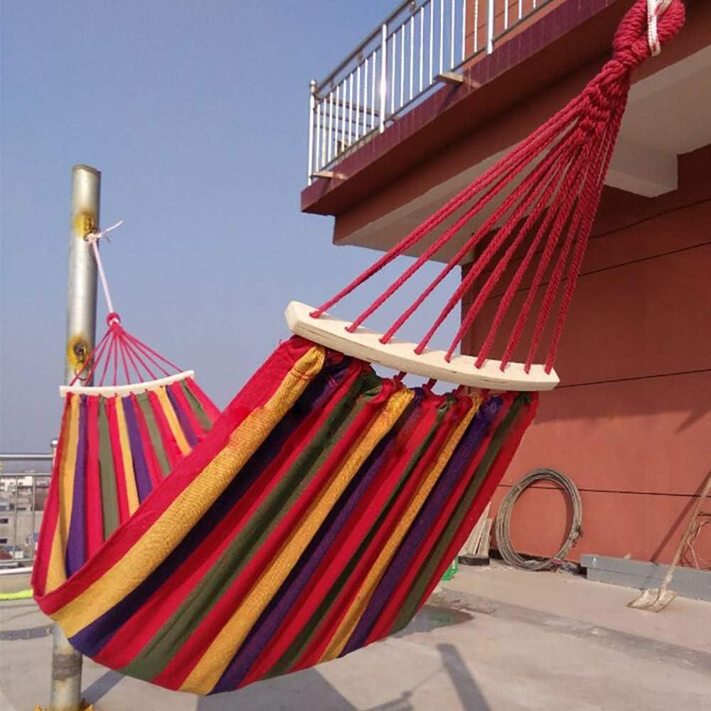 240 x 80 cm hasta 200 kg con cuerda de 2 x 2 m para viajes y jard/ín Con soporte. Yous Auto Hamaca doble de algod/ón