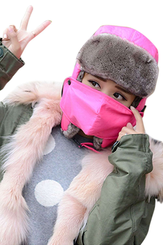 Unisex Waterproof Bomber Hat Ear Flap Chunky Lei Feng Cap Mask