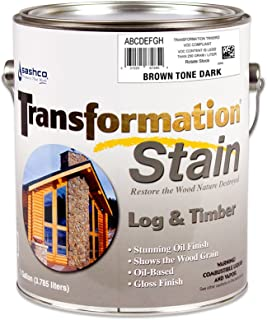 product image for Sashco Transformation Log and Timber Stain, 5 Gallon Pail, Gold Tone Medium (Pack of 1)