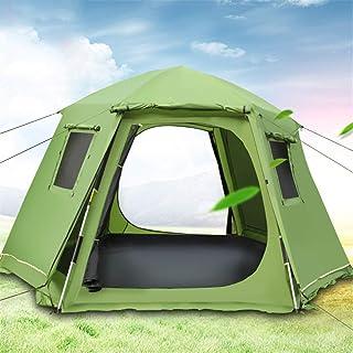 WANGYANNING Tenda Aperta Integrata a Doppio Strato Impermeabile, Tenda da Campeggio Antivento, Tenda da Campeggio Impermeabile e Antivento