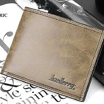baellerry marca alta calidad Hombre Cartera de piel sintética corto Monedero macho Solid cartera para hombre cartera de piel # 4 Colores: Amazon.es: ...