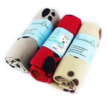 EM HOME Mantas Grandes de Suave Felpa para Perros, Gatos Mascotas, 3 Unidades (70x100cm): Amazon.es: Productos para mascotas