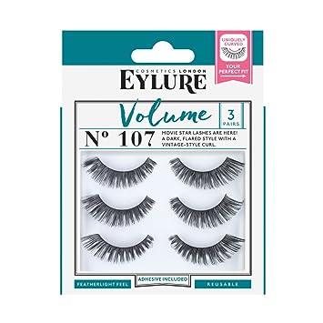 77d80492760 Eylure Strip False Lashes No. 107 (Volume) Multipack Pack of 3 ...