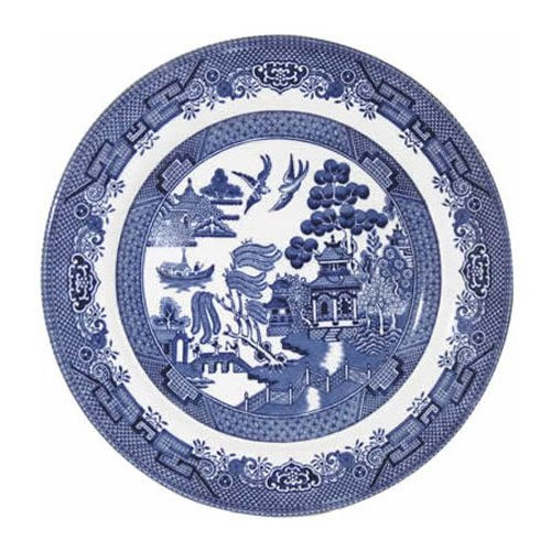 """Churchill Blue Willow Plate 8"""" (Set of 6)"""