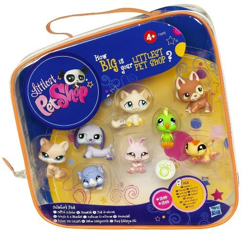 Includes Shepherd, Cat, Kitten, Gecko, Dwarf Bunny, Dachshund, Guinea Pig And Green Bird Pets With Their Own Carry Case - Littlest Pet Shop Collector's Starter Pack (Littlest Pet Shop Starter Pack)