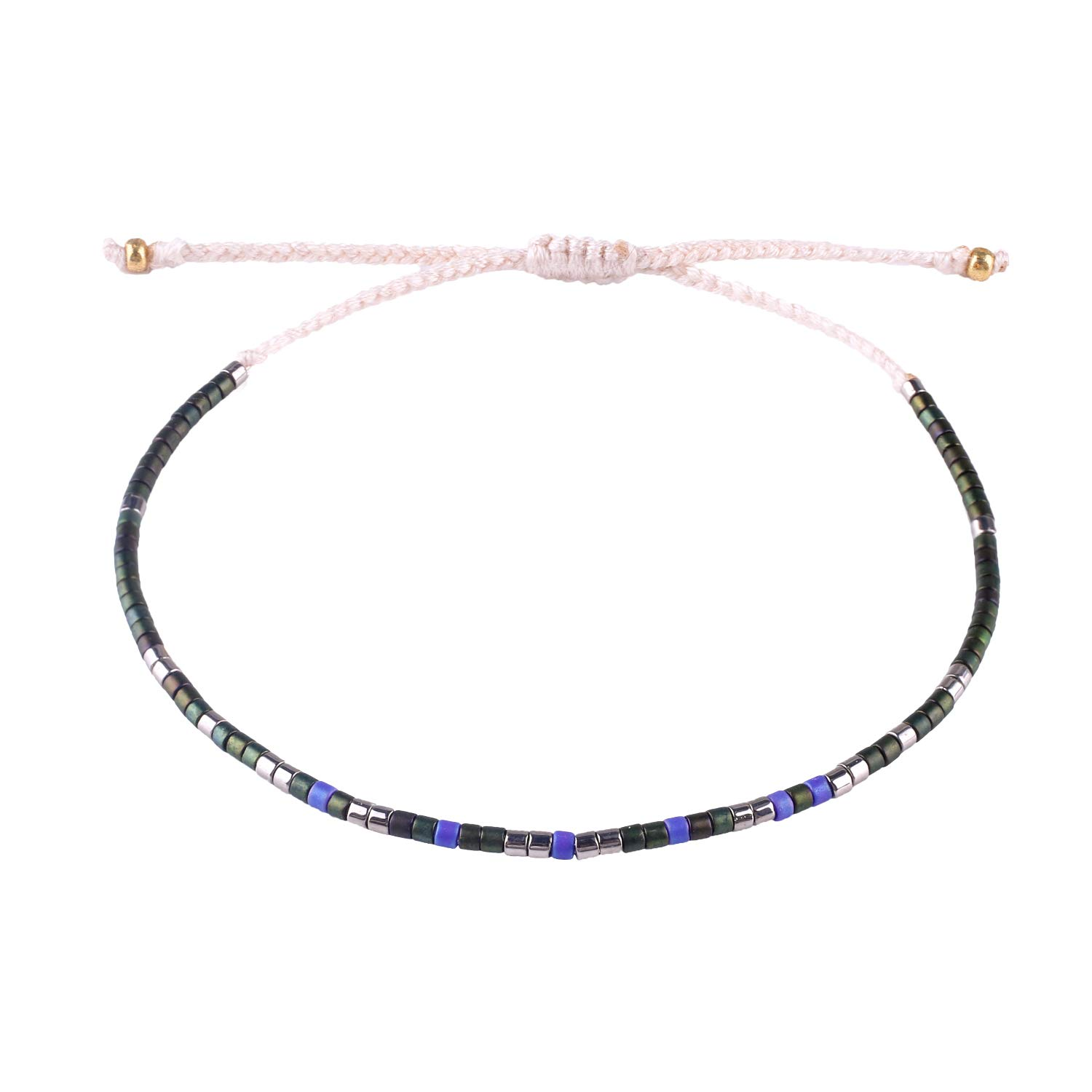 KELITCH Multicolor Crystal Shell Beaded Friendship Bracelets Hand Woven New Jewelry (Color G)