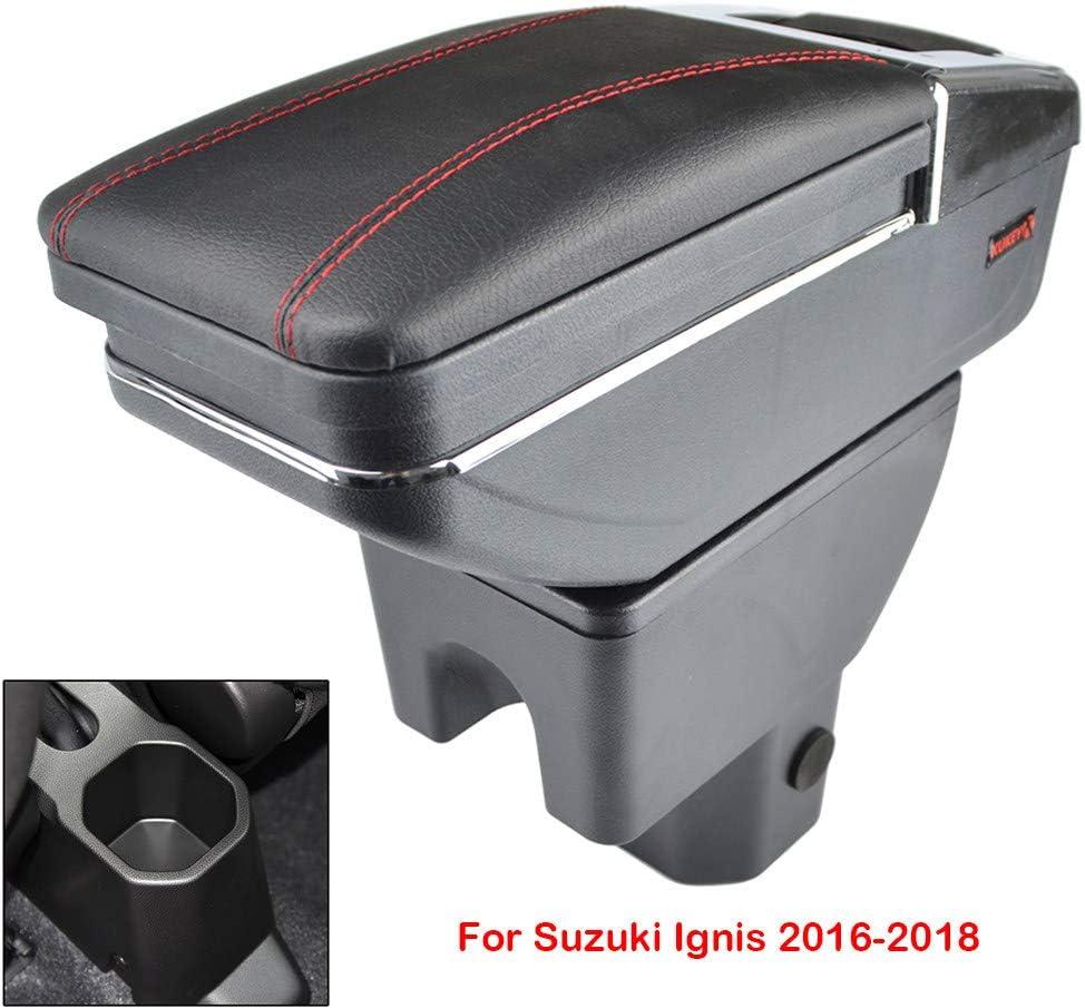 LSYBB Accoudoir Central Bo/îTe pour Suzuki Ignis 2016-2018 Accoudoir Pivotant Bo/îTe De Rangement Voiture D/éCoration,B