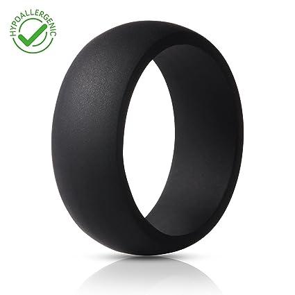 Amazon Com Silicone Wedding Ring For Men Crossfit