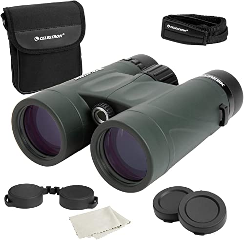 Celestron Nature DX 8×42 Binoculars Outdoor and Birding Binocular Fully Multi-coated with BaK-4 Prisms Rubber Armored Fog Waterproof Binoculars Top Pick Optics