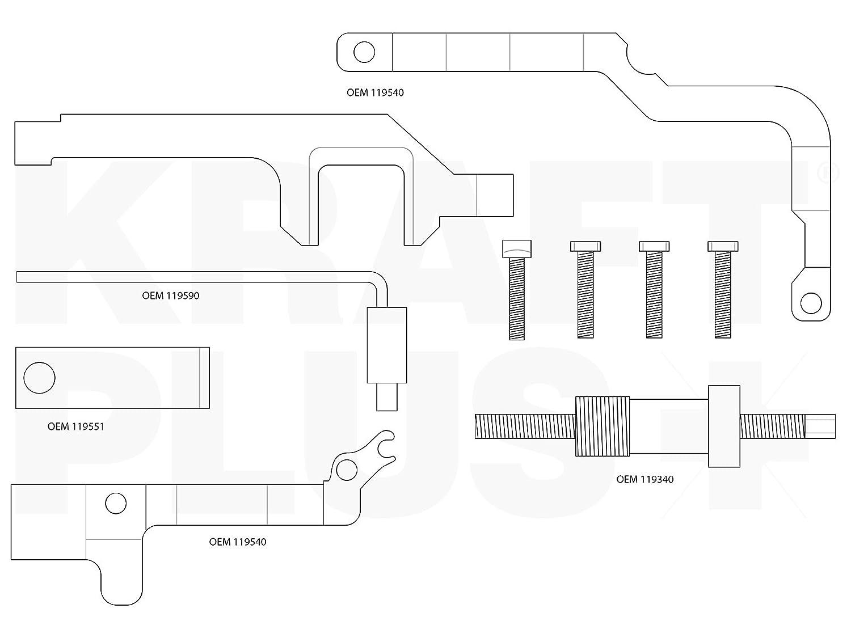 KRAFTPLUS® K.200-1012 Juego de calado de distribución para BMW Mini Cooper, Peugeot, Citroën - 10 piezas: Amazon.es: Coche y moto