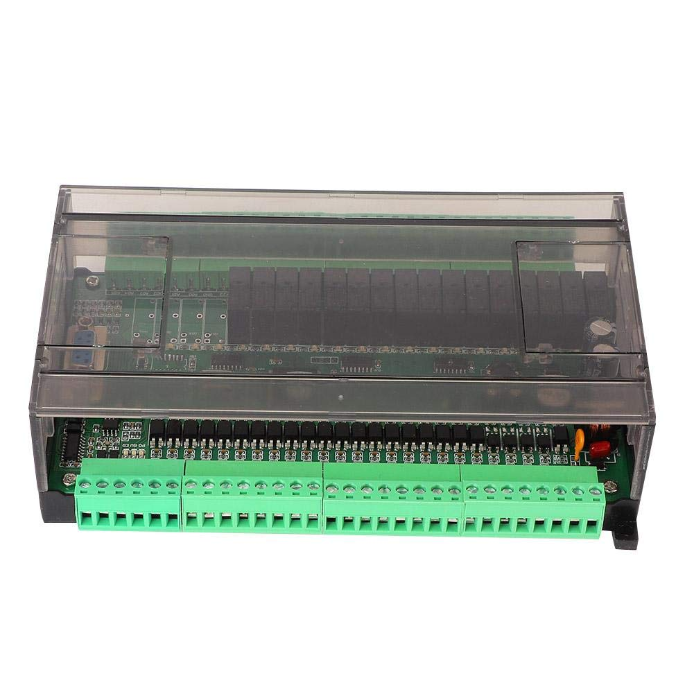 PLC Industrial Control Board FX1N-40MR with RS485RS232 Applicable to GX Developer and GX Works2 Software Programming Reading Downloading Checking