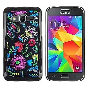 Paccase / SLIM PC / Aliminium Casa Carcasa Funda Case Cover para - Colors Fabric Fashion Clothes Flowers - Samsung Galaxy Core Prime SM-G360