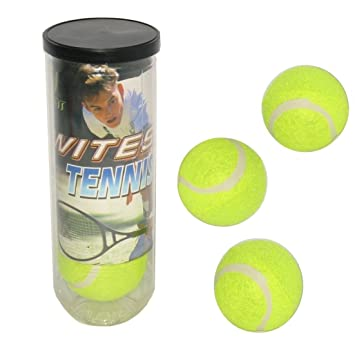 A.C.T. Tac - Bote 3 pelotas tenis: Amazon.es: Juguetes y juegos
