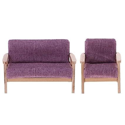 Amazing Amazon Com Kodoria 2Pcs 1 12 Dollhouse Wooden Furniture Set Dailytribune Chair Design For Home Dailytribuneorg