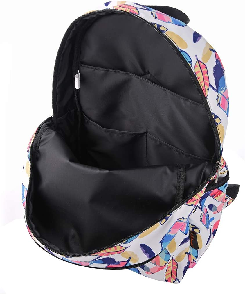 MoreChic Causal Canvas Stripe Backpack Travel Daypack Backpacks For Teen Girls Women