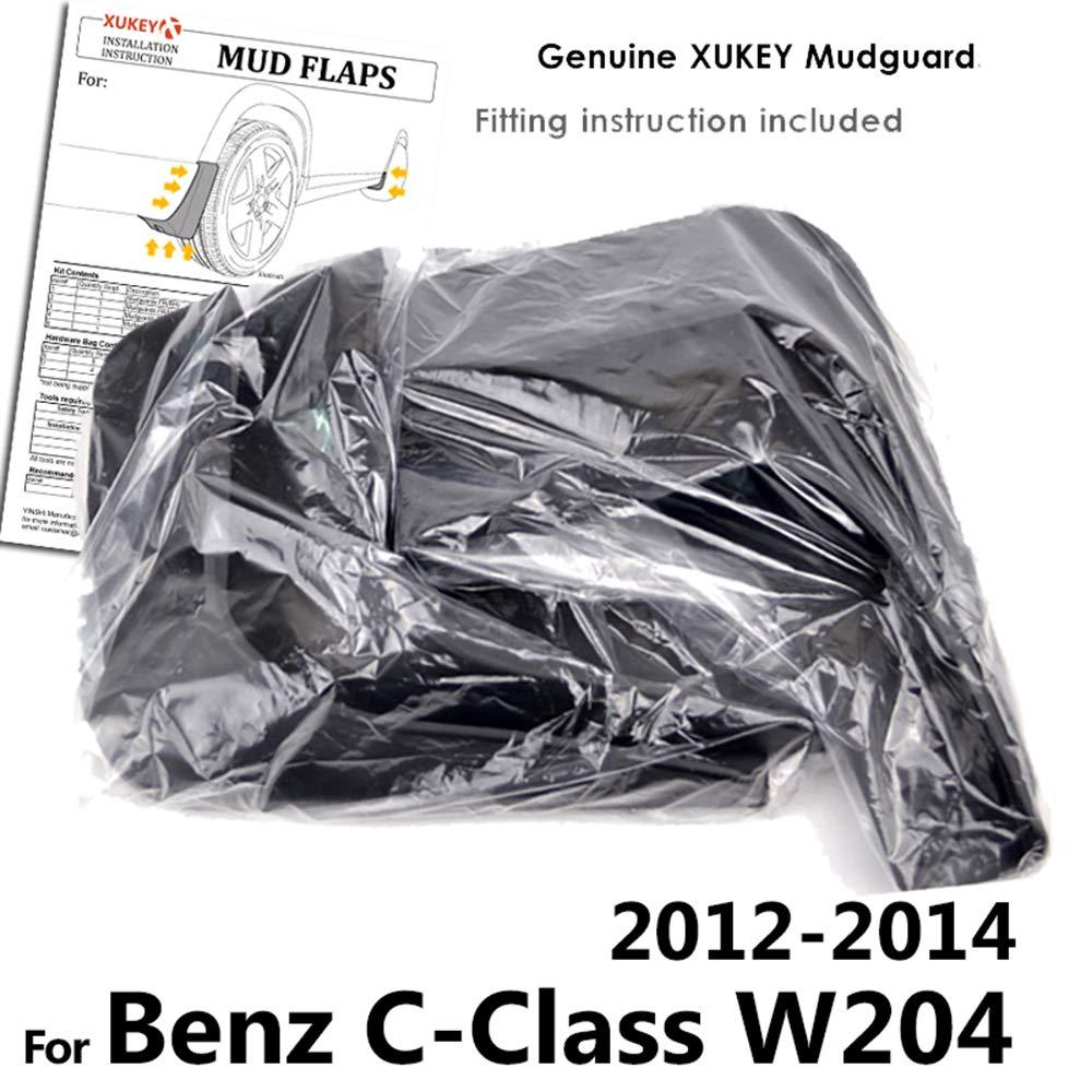 vorne und hinten 4-teiliges Set XUKEY Spritzschutz f/ür C-Klasse W204 2012 2013 2014 Schmutzf/änger