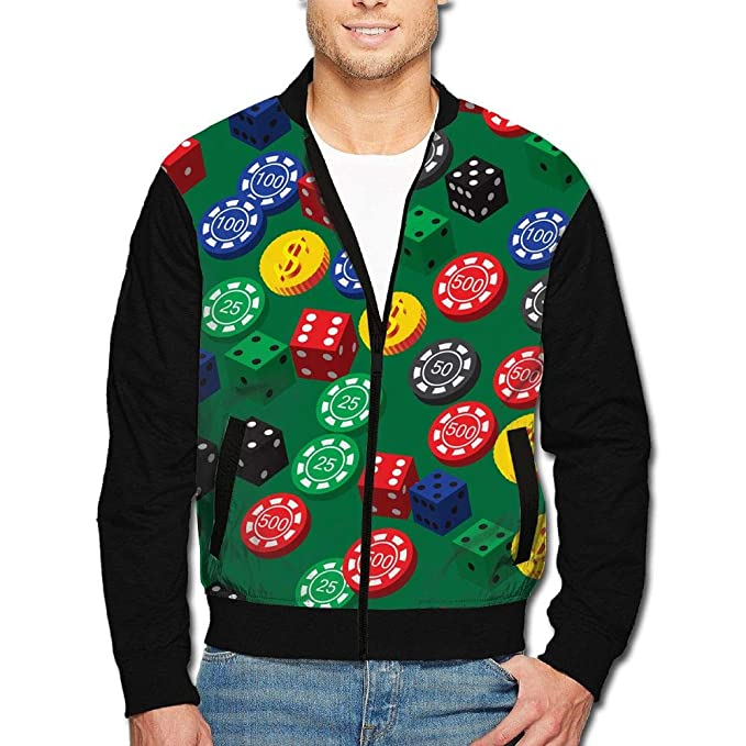 : PINE2TREE Mens Poker Chips Dice Pattern Casual