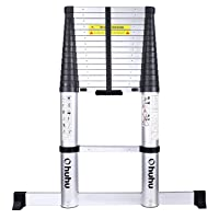 Ohuhu 15.5 FT Telescoping Ladder with Stabilizer Bar, EN131 Certified Convenient...