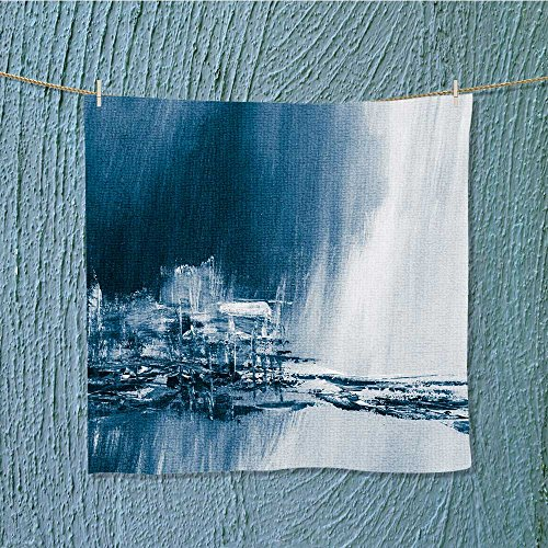 AuraiseHome travel towelblue painted background wallpaper texture Luxury Hotel & Spa Towel W13.8 x W13.8 by AuraiseHome