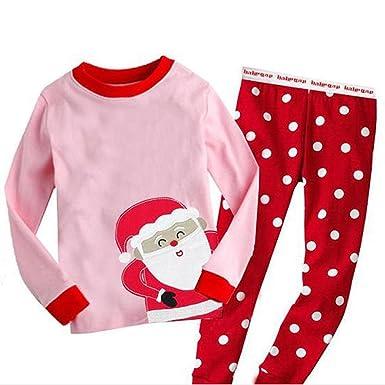 Amazon.com  Bling Stars Little Girls Kids Toddler Santa Claus Christmas Pjs  Sleepwear Cotton Pajamas Sets  Clothing b7035e9bf