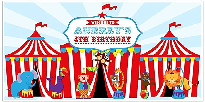 Amazoncom Circus Carnival Big Top Birthday Banner Personalized