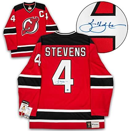 c94e6004 Scott Stevens Signed Jersey - White Adidas - Autographed NHL Jerseys at Amazon's  Sports Collectibles Store