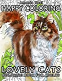 Happy Coloring : Lovely Cats - Coloring Book for Adults