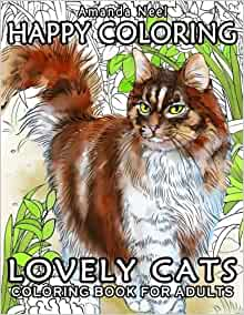 Happy Coloring : Lovely Cats - Coloring Book for Adults ...