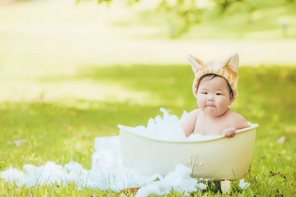 Dvotinst Baby Photography Props for Studio Shoots, Cute and Beautiful Iron Bathtub Posing Props for Newborn Babies by DVOTINST (Image #3)