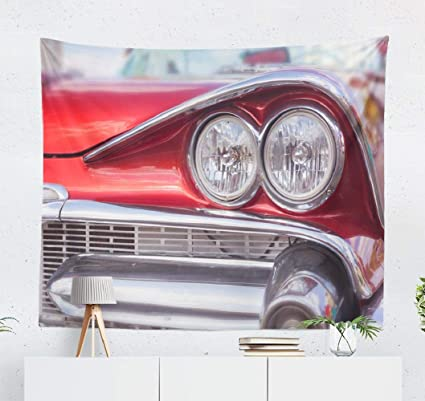 Amazon.com: Vintage-Car Wall Tapestry,Tapestry Wall Hanging ...