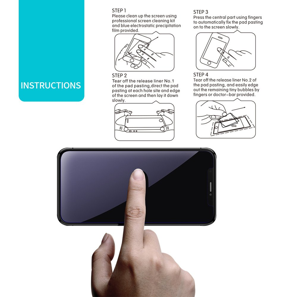 iPhone X Screen Protector, 3 Pack KEEKOON Tempered Glass Protector HD Clear 9H Hardness Full Coverage Film for Apple iPhone X/10