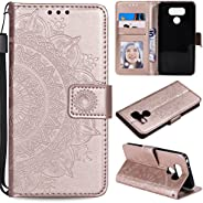 Snow Color Leather Wallet Case for LG G6 / LG G6+ (G6 Plus) with Stand Feature Shockproof Flip, Card Holder Ca