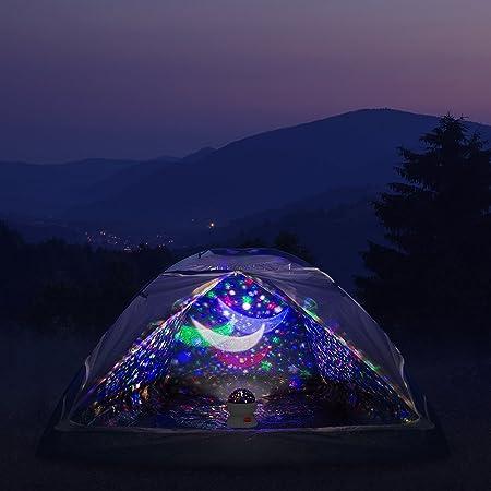 LED Nachtlicht Rotierend mit 4LED Birnen Sternenhimmel Projektor Lampe Kinder 8 Licht Modus und 2 Energieversorgung Timer-Schalter Sky-Star Night Light f/ür Zimmer Festival Dekoration oder Geschenk