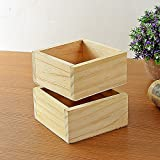 Coohole-Stationery Retro Style Wooden Succulent Plants Square Flower Pot Garden Handmade Planting
