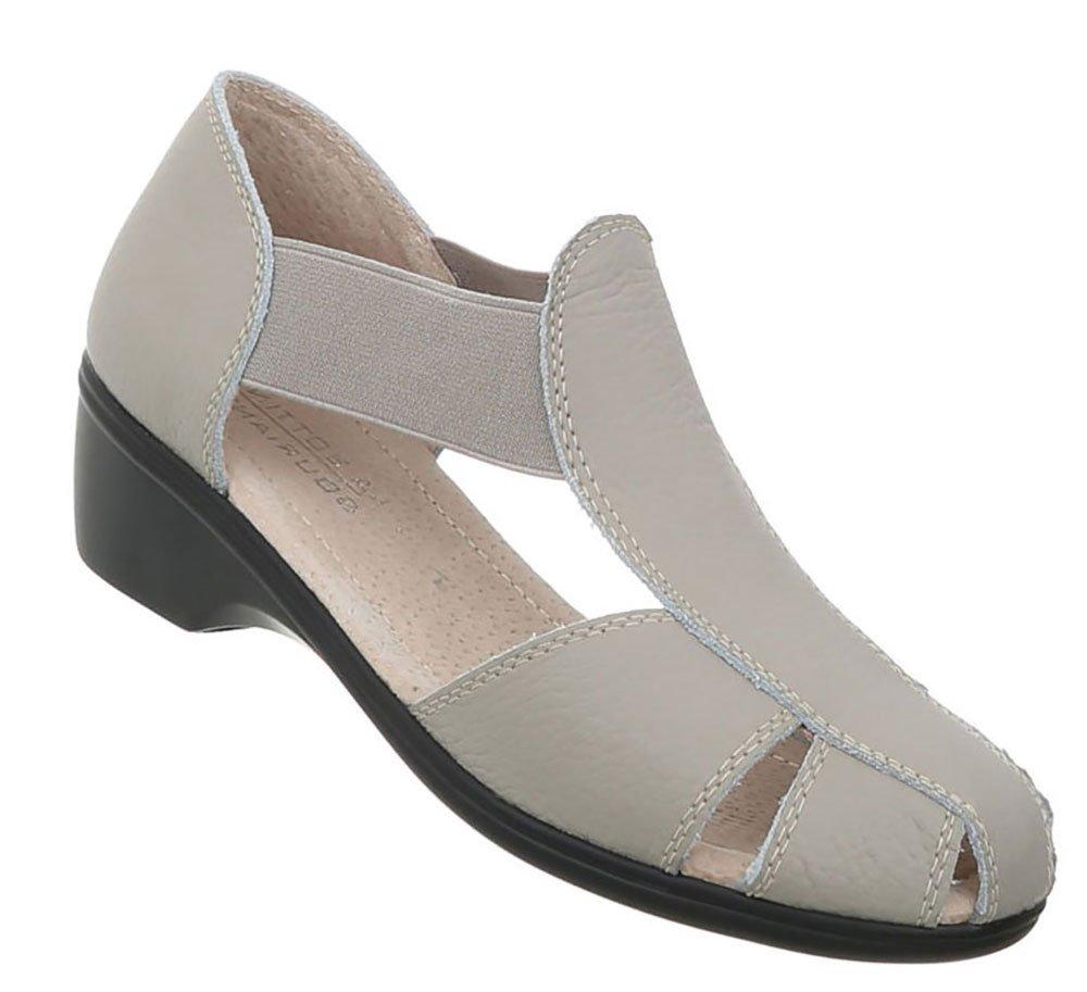 Damen Schuhe Sandalen Leder Pumps39 EU|Modell Nr.1grau