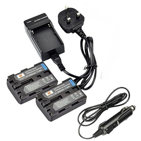 Dste 2pcs Np Fm50 Rechargeable Li Ion Battery Amazon Co Uk