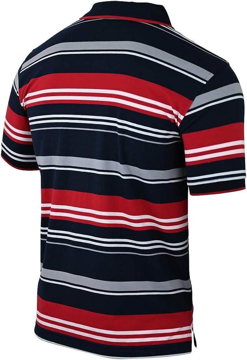 M bis 3XL Soltice Herren Poloshirts Kurzarm Polohemden Gestreift mit Brusttasche Blousonshirts aus Baumwoll-Mix
