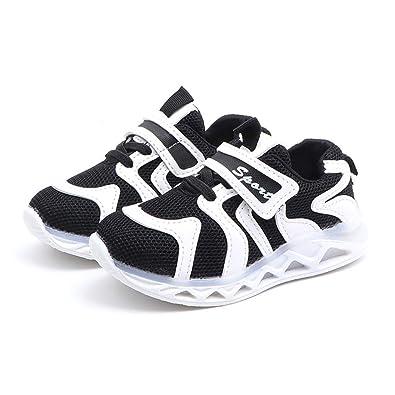 3b1dfbec3de VEFSU Children Baby Girls Boys Letter Led Light Luminous Running Sport  Sneaker Shoes (US