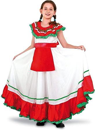 Disfraz de Mejicana niña: Amazon.es: Juguetes y juegos