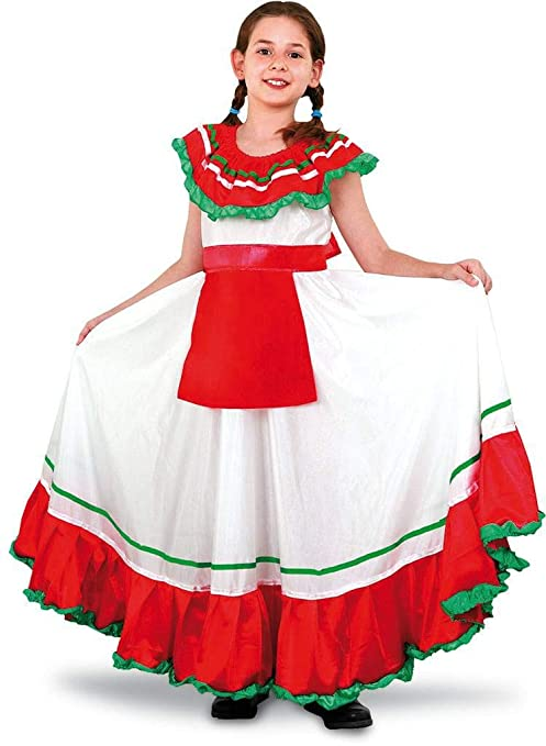 013403c553ede Disfraz de Mejicana niña en varias tallas para Carnaval  Amazon.es ...