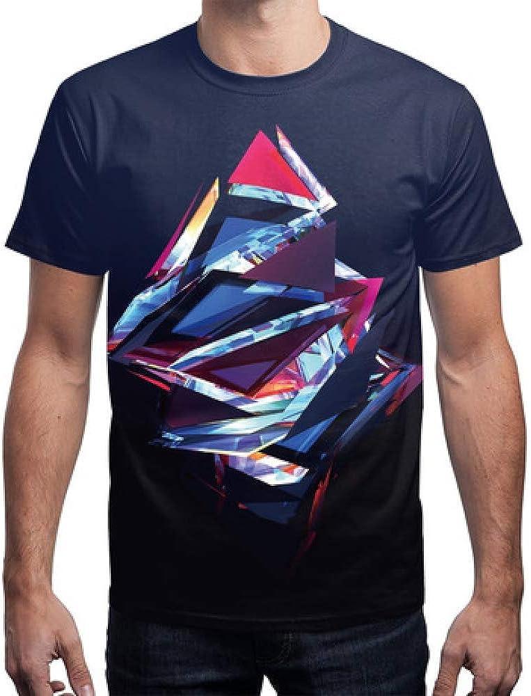 Mens Compression Shirt 3D Digital Printing T-Shirt Size Loose Casual Short Sleeve