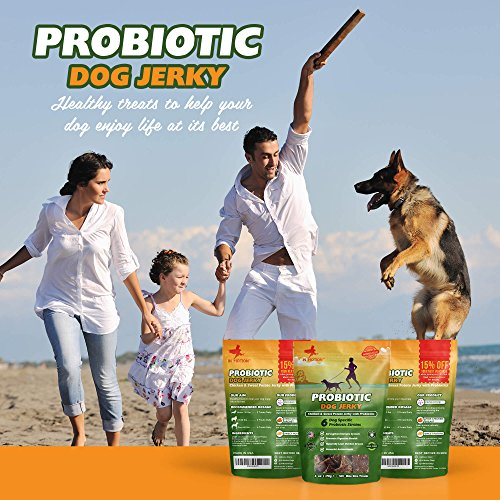 Cheapest Healthy Dog Treats Probiotic Jerky All al Chicken Sweet Potato Pet Chews and Probiotics Supplement Chewable cure for Dogs preferred for Pets Wellness Gas or Diarrhea Made in USA Only 6ounces Check this out