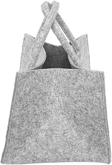 Bolsa de Asas de le/ña con Portador de Troncos Bolsa de Transporte de Madera de le/ña de Gran Capacidad Soporte para Portador de Troncos para de Alta Resistencia con Asas Caqui y marr/ón