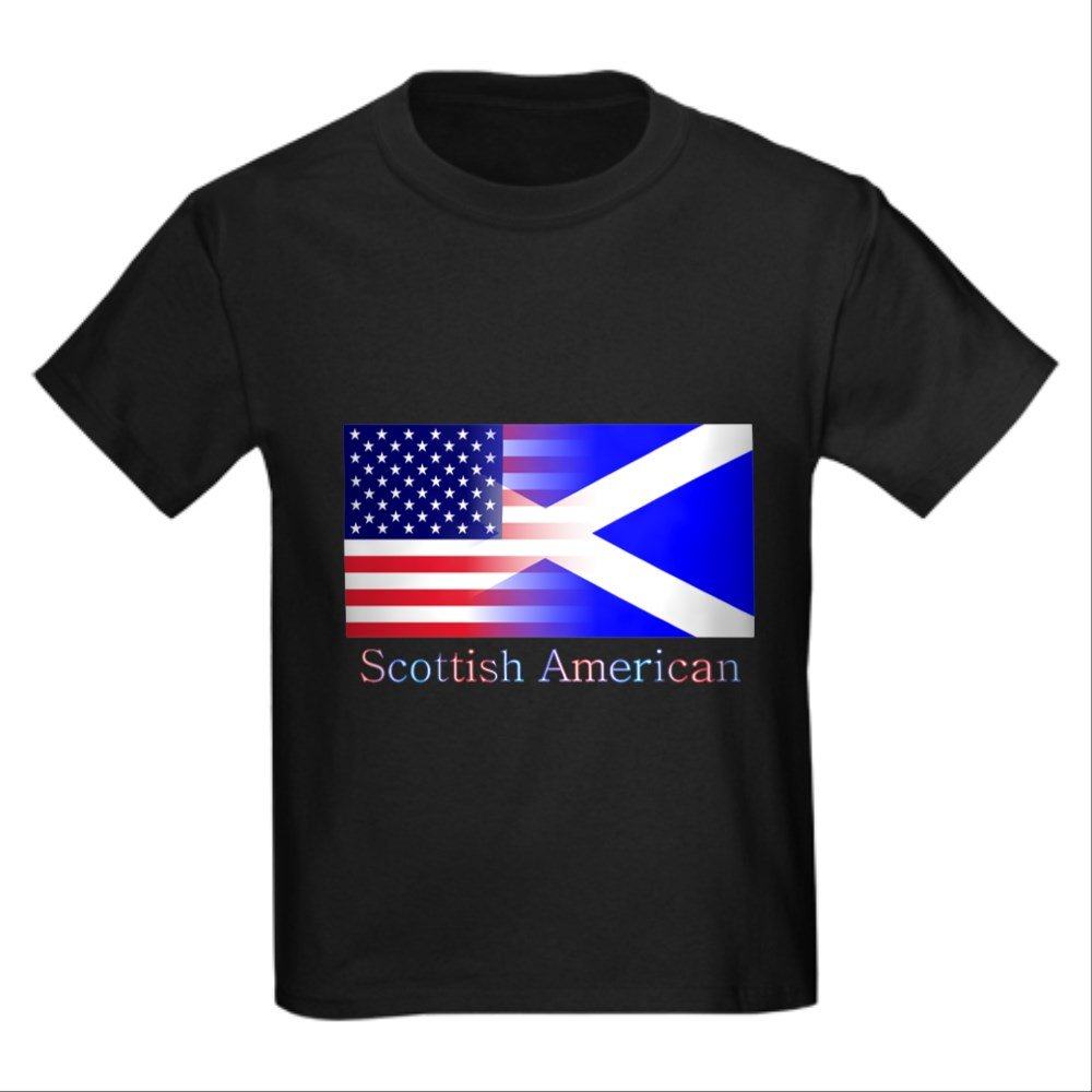 af5c82a49 Amazon.com: CafePress - Scottish American - Kids Cotton T-shirt: Clothing